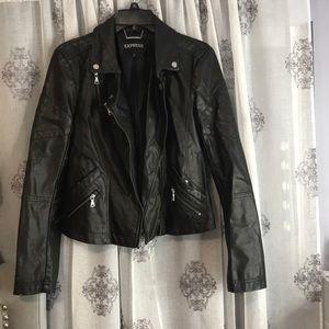 Black leather jacket size M